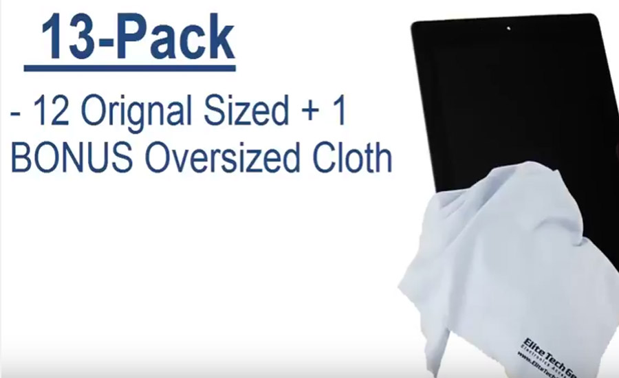13-Pk Microfiber Cleaning Cloth Widens Choices