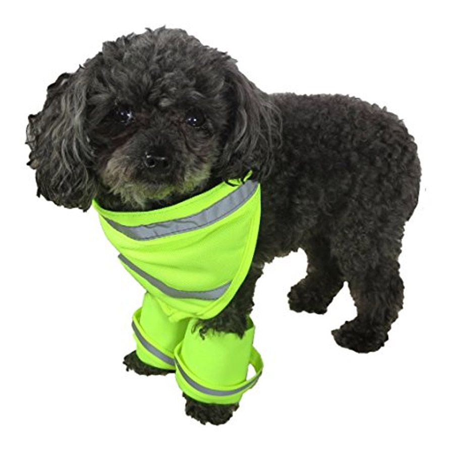 Elitepetgear Reflective Dog Bandana And Leg Wraps